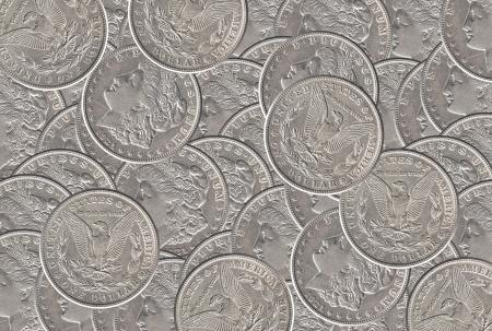 Zilveren dollar munten achtergrond