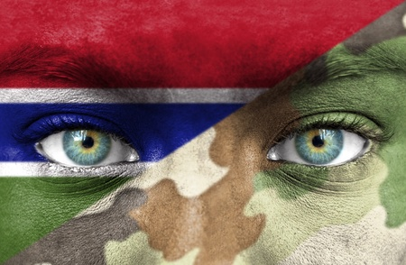 Soldier from Gambia Stock Photo