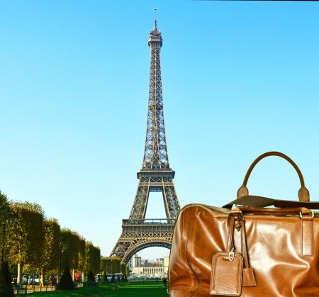 파리 개념적 이미지로의 여행 스톡 콘텐츠