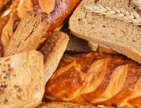 Assortment of baked bread photo