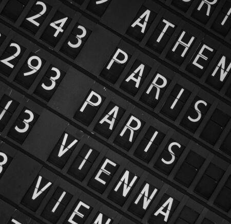 Airport departure display board background