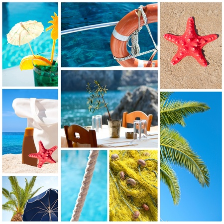 Collage of summer beach images - Holidays concept  photo