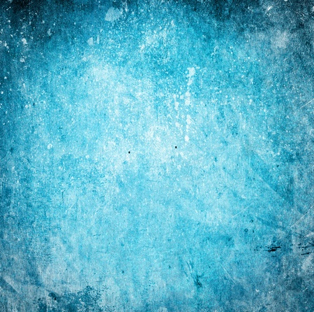 Grunge cyan background with stains and scratches photo