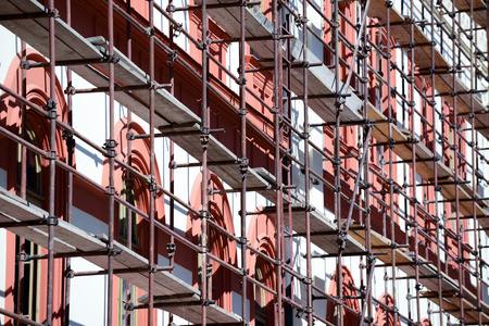 Renovatie van gebouwen Stockfoto