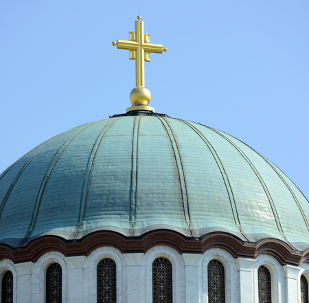 Detail of Saint Sava church in Belgrade - Serbia photo