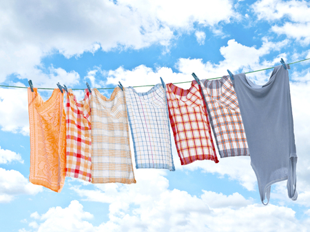 Laundry hanging over sky