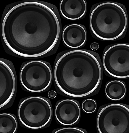 reverb: Speakers abstract background