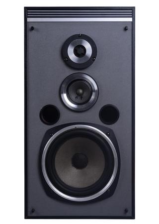 loud speakers: Speakers isolated on white