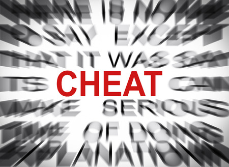 cheat: Blured text with focus on CHEAT