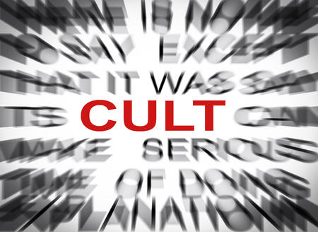 cult: Blured text with focus on CULT