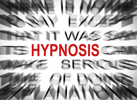 hypnosis: Blured text with focus on HYPNOSIS