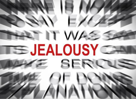 celos: Texto Blured con el foco en CELOS