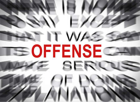 offense: Blured text with focus on OFFENSE