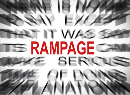 rampage: Blured text with focus on RAMPAGE