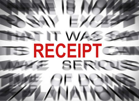 receipt: Blured text with focus on RECEIPT