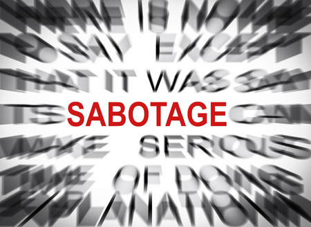 Blured text with focus on SABOTAGE Stock Photo - 23056710