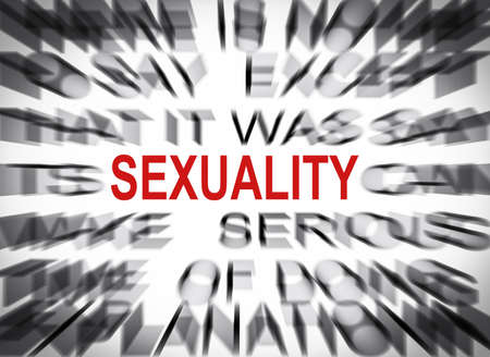 sexuality: Blured text with focus on SEXUALITY