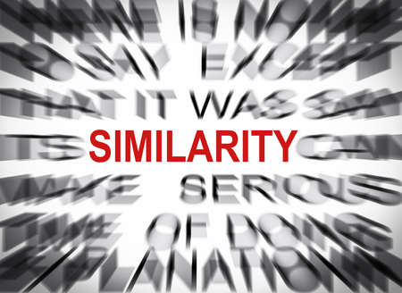 similarity: Blured text with focus on SIMILARITY
