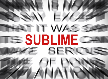 sublime: Blured text with focus on SUBLIME
