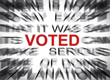 głosowało: Blured tekst z naciskiem na GŁOSOWANIA