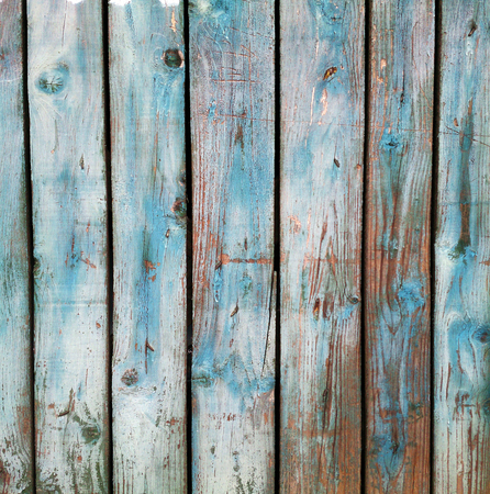Grunge blue wooden background photo