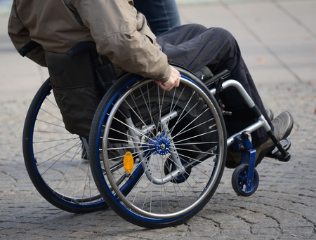 unaccessible: Man in wheelchair