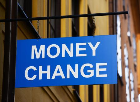 Money exchange concept photo
