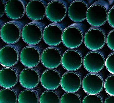rigid: Plastic industrial pipes background