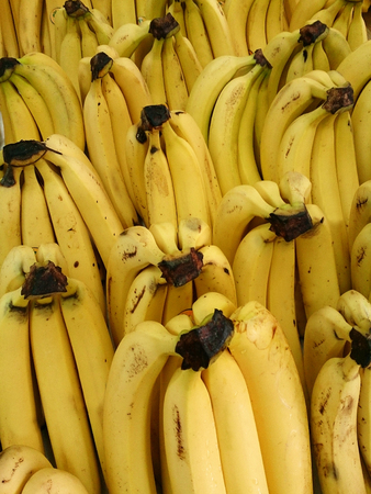 Fresh bananas background photo