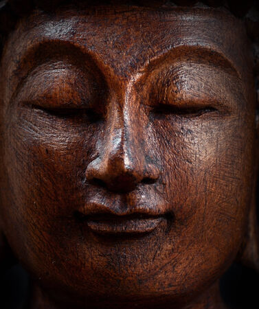 Buddha portrait closeup photo