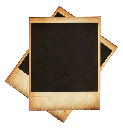 Vintage instant photo frames isolated on white photo