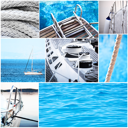 Yacht collage - Yachting concept photo