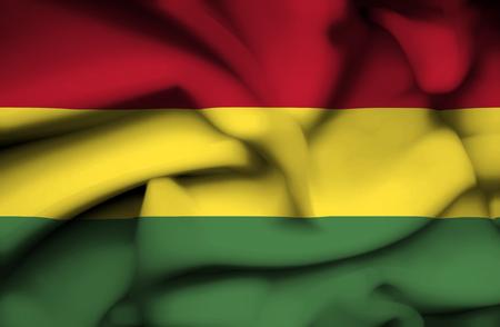 Bolivia waving flag photo