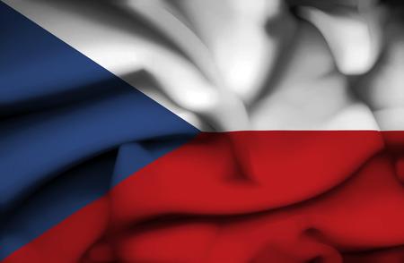 Czech Republic waving flag photo