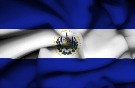 El Salvador waving flag photo