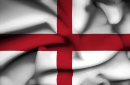 saint george: England waving flag