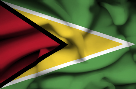 guyana: Guyana waving flag Stock Photo