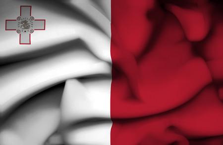malta: Malta waving flag