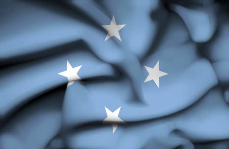 micronesia: Micronesia waving flag