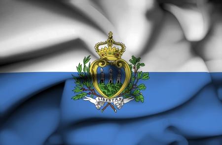 sammarinese: San Marino sventolando bandiera Archivio Fotografico