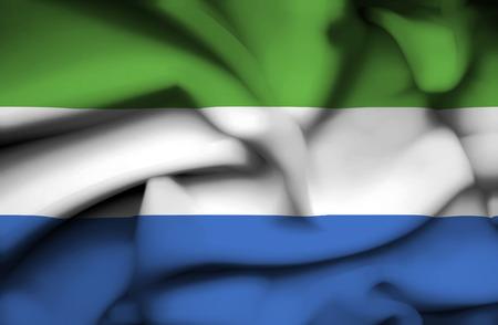 Sierra Leone waving flag photo