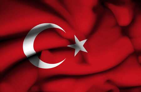 Turkey waving flag photo
