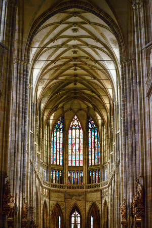 nave: Cathedral of St Vitus in the Prague castle