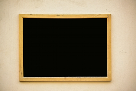 black board: Empty black board (menu board) at a restaurant - nice backgroud with space for text