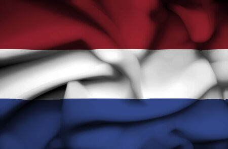 Netherlands waving flag photo