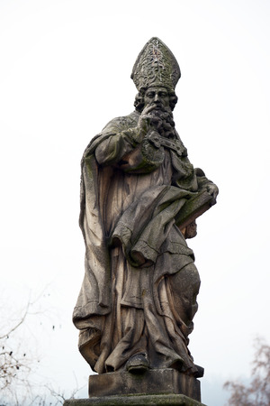 martyrdom: View on sculptures of the Charles bridge - Prague Czech Republic