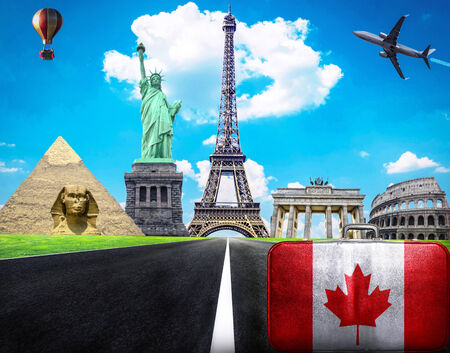 Travel the world conceptual image - Visit Canada photo