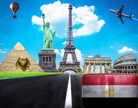 Travel the world conceptual image - Visit Egypt photo
