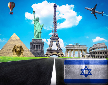 Travel the world conceptual image - Visit Israel photo