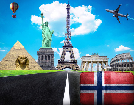 Travel the world conceptual image - Visit Norway photo